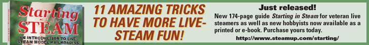 11 amazing tricks to have more live-steam fun! New book, \'Starting in Steam,\' just released. http://www.steamup.com/starting/