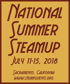 National Summer Steamup -- July 19-23, 2017 -- www.summersteamup.com/