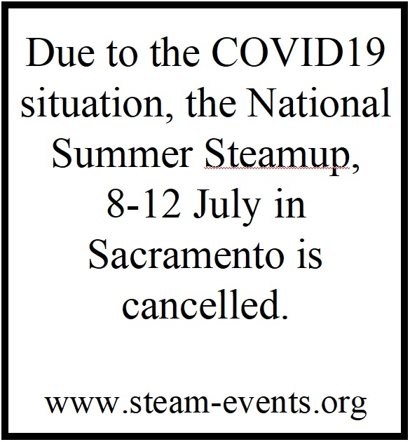 National Summer Steamup -- Cancelled