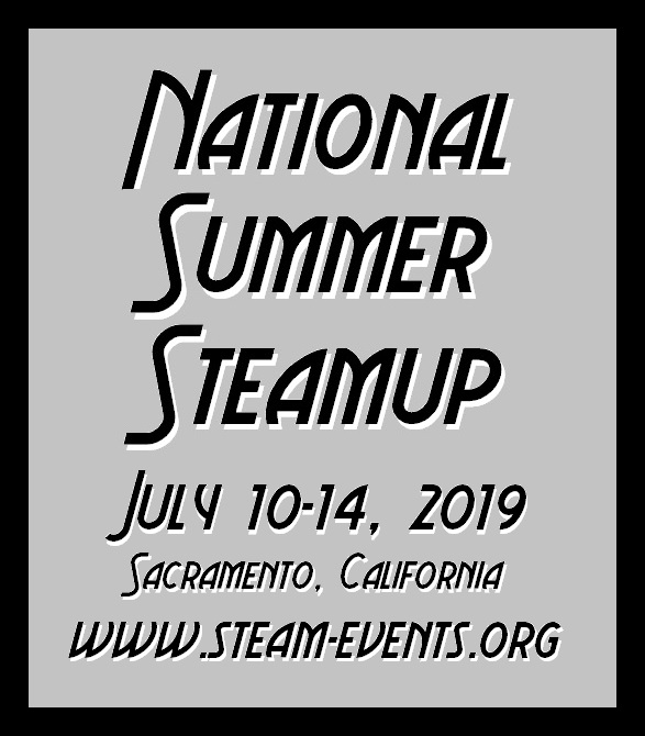 National Summer Steamup -- July 10-14, 2019 -- www.summersteamup.com/