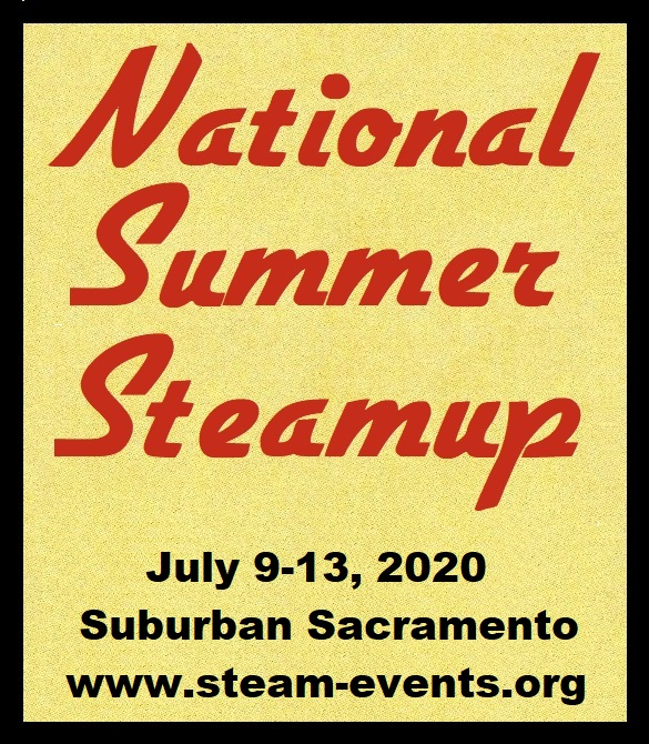 National Summer Steamup -- July 9-13, 2020 -- www.summersteamup.com/