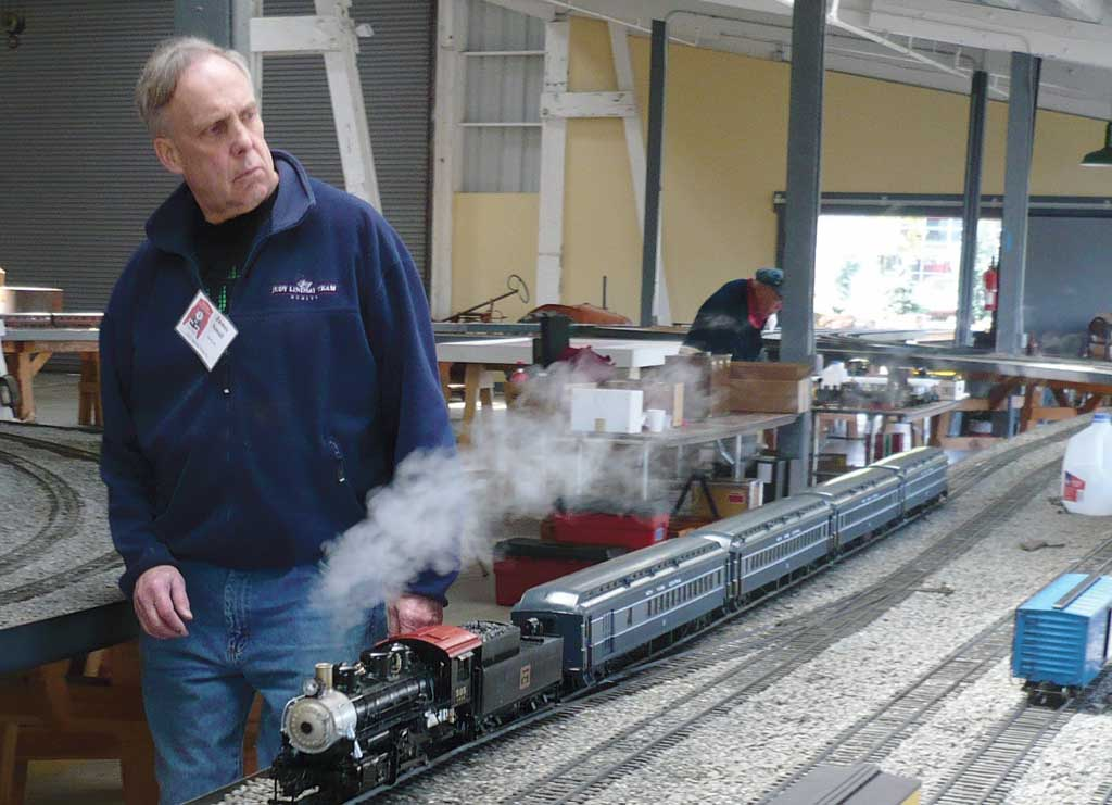 James Small paces his Nickle Plate Road passenger consist.